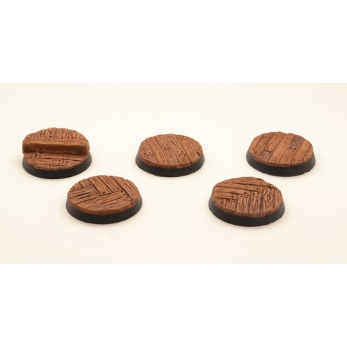 25mm round resin bases - Ship deck