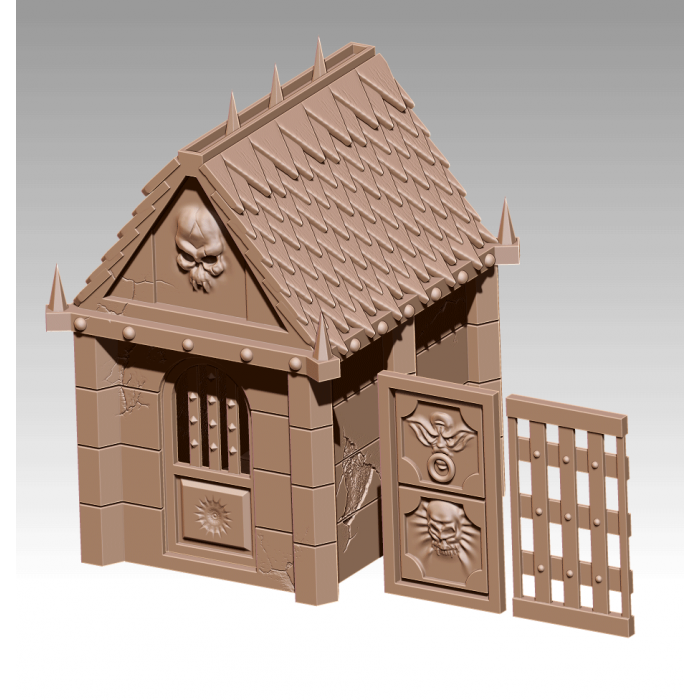 photo relating to Printable Scenery titled 3D Printable Surroundings - Village Pack increase-upon - Graveyard