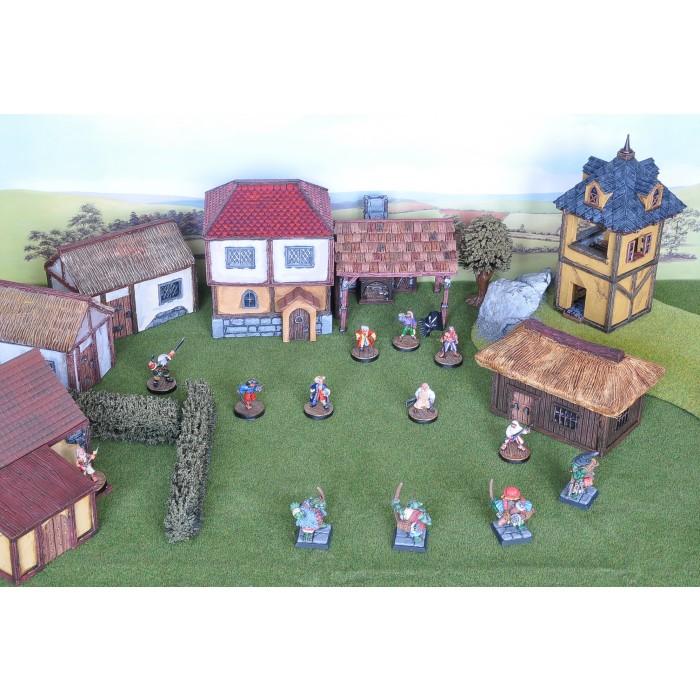 3D Printable Scenery - Village Pack 1 - Basic Houses