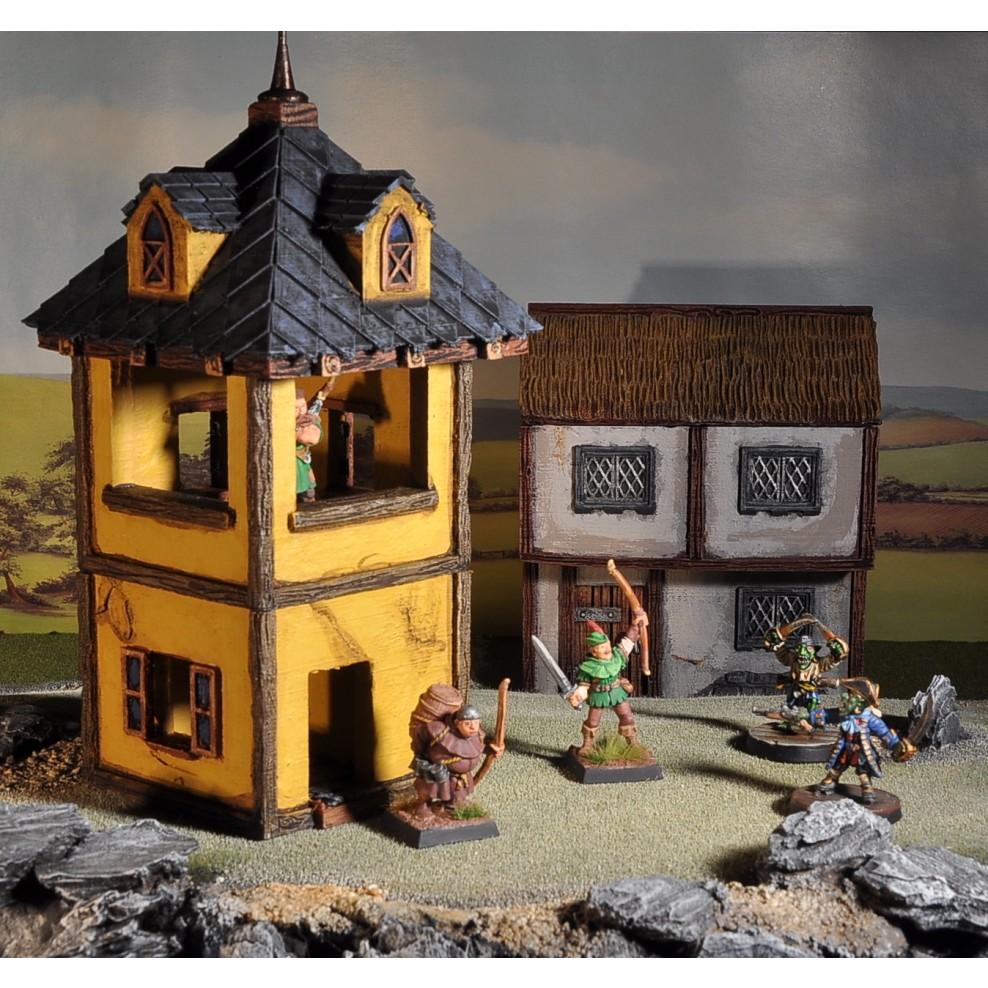 photo regarding Printable Scenery named 3D Printable Landscapes - Village Pack 1 - Very simple Residences