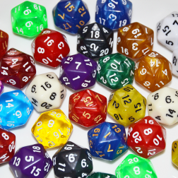20 sided dice - random color