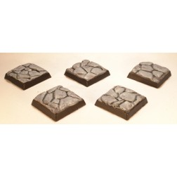 20mm square bases - Stone