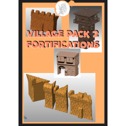 3D Printable Scenery - Village Pack 3 - Fortifications