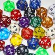 20 sided dice - random color