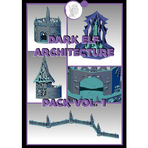 3D Printable Scenery - Drow Architecture